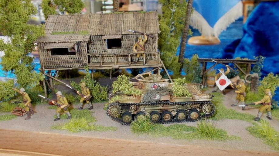 Das Buschhaus im Hintergrund trägt natürlich viel mit zu der Wirkung des Dioramas bei.