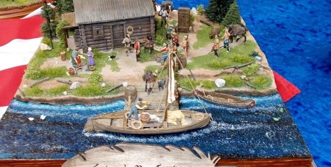Hudson's Bay Company. Ein schönes Diorama aus der wilden Zeit. Den Grizzly-Bären sucht man förmlich schon.