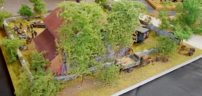 """Auch von der rückwärtigen Sicht hat das Diorama """"Feldlazarett"""" einiges zu bieten."""