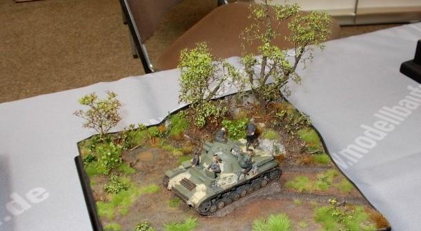 Auch selten: der Flakpanzer Kugelblitz auf einem Diorama.