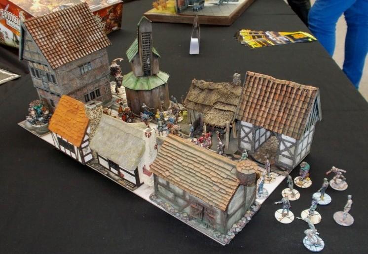 Etwas mittelalterlicher geht es hier bei den Zombies in ihrem Dorf zu.