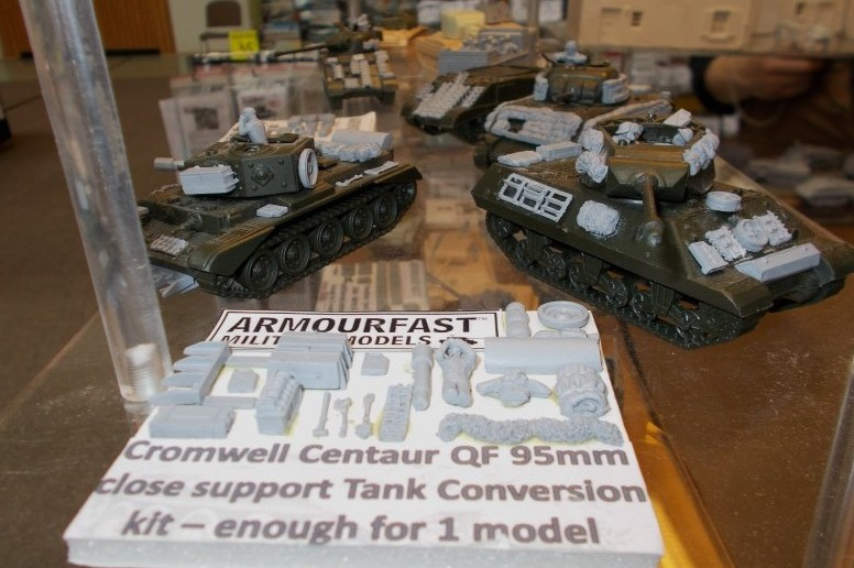 Early War Miniatures bietet auch für den Cromwell/Centaur Mk IV mit Ordnance QF-95-mm-Haubitze einen Zubehörsatz an. Hier reichen die Teile allerdings nur für einen Centaur