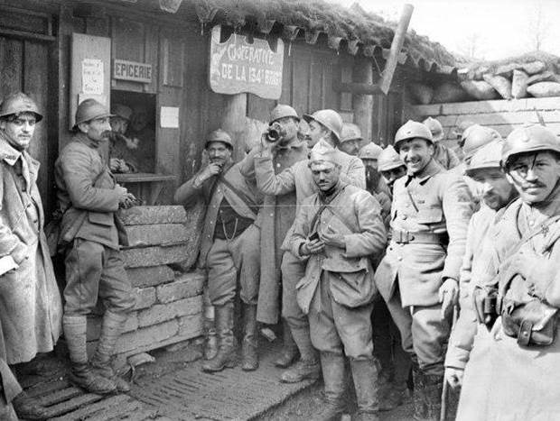 Soldaten der 134. Brigade  bei Nancy. April 1917.