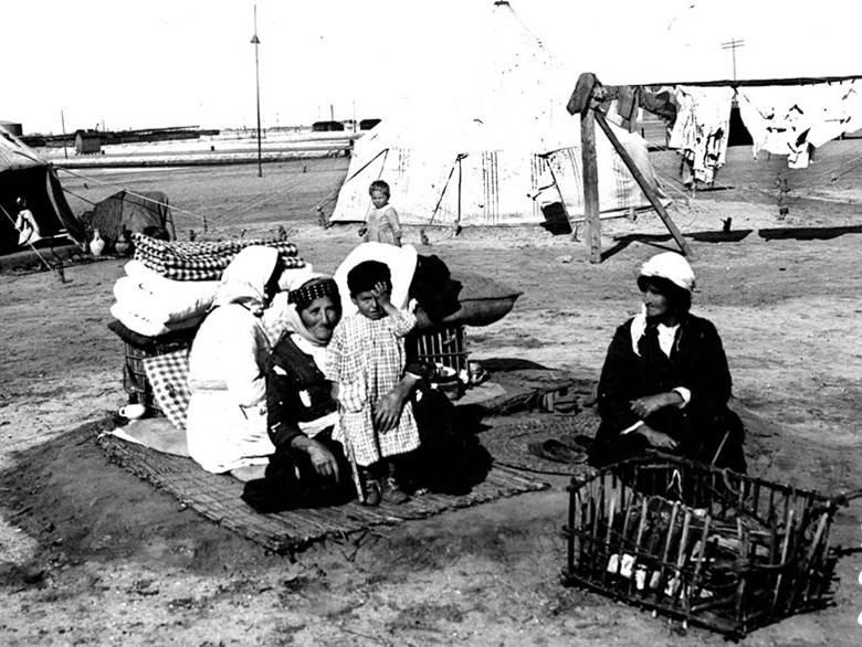 Lager der armenischen Flüchtlinge in Port-Saïd in Ägypten. Januar 1918.