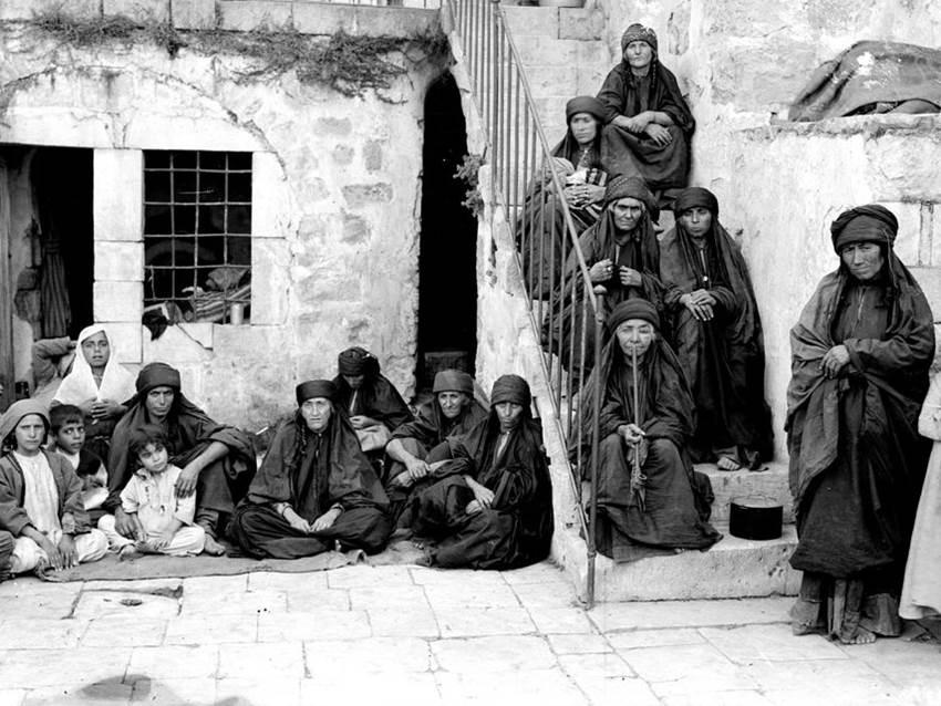 Flüchtlinge von El-Salt in Jerusalem im befreiten Palästina. 1918.