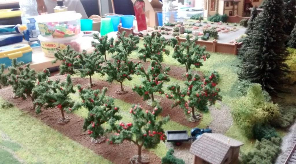 Ein Obsthain auf der N-Spuranlage.