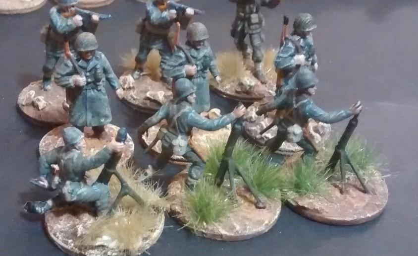 Für die 69th Infantry Division gabs auch Verstärkung: der zweite Mörsertrupp ist nun auch vollzählig