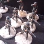 Die vier Flammenwerfer des 393th Infantry Regiment