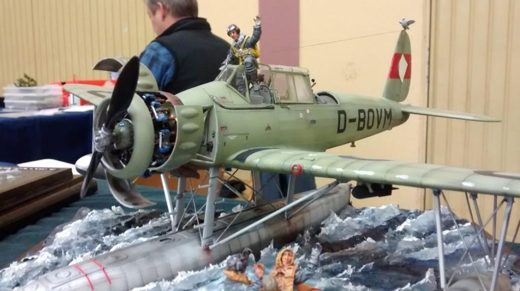 Der Pilot in der Kanzel der Arado 196B V4