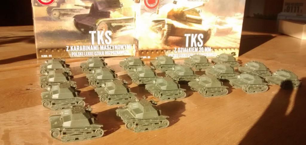 Von F2F: die Tankette TKS und TK-3. First-to-Fight hat hier einige Leckereien der polnische Armee im Programm.