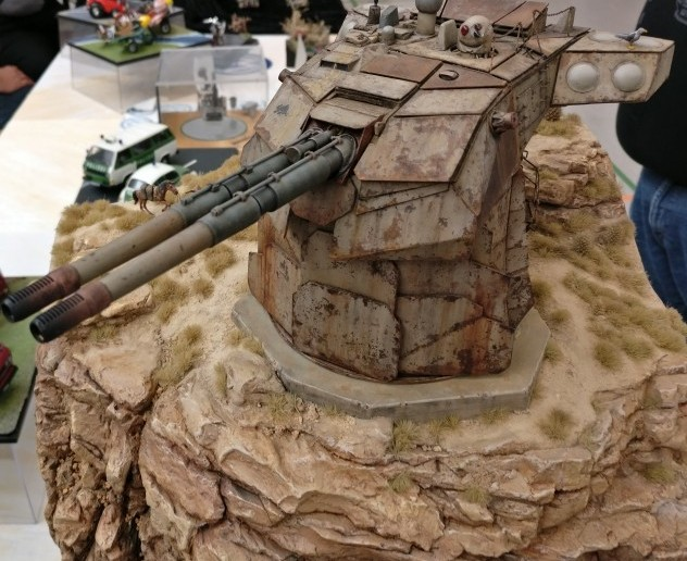 Der Geschützturm auf Ikizaz-29 - stets bereit zur Abwehr eindringender Feinde.