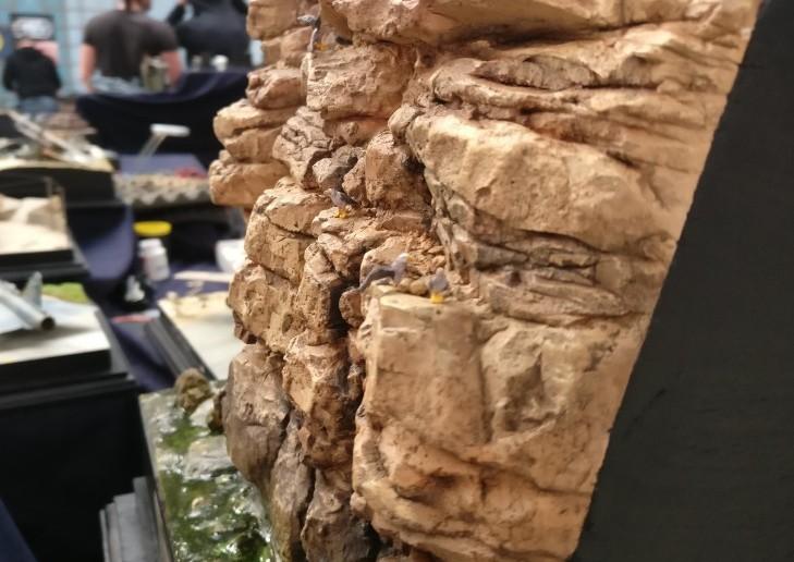 Hier nochmal die steilen Felsen unterhalb der Batterie Ikizaz-29.