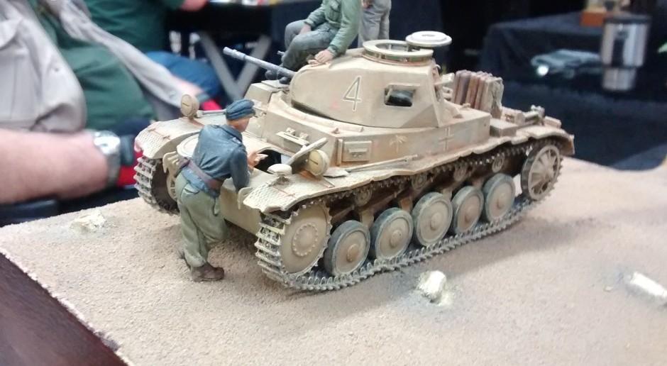 """Diorama """"Lagebesprechung der II. Abteilung des Panzerregiment 8 nahe SAUNU"""""""