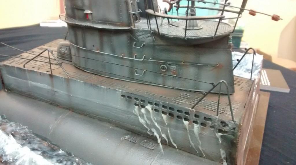 Detail des wohl gerade erst vor Kurzem aufgetauchten deutschen U-Boots (Typ VII C)