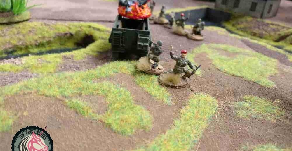 Auf der Halbinsel mehren sich die britischen Verluste im sehr deckungslosen Feld. ( Behind Omaha. Forum / Spielbericht )