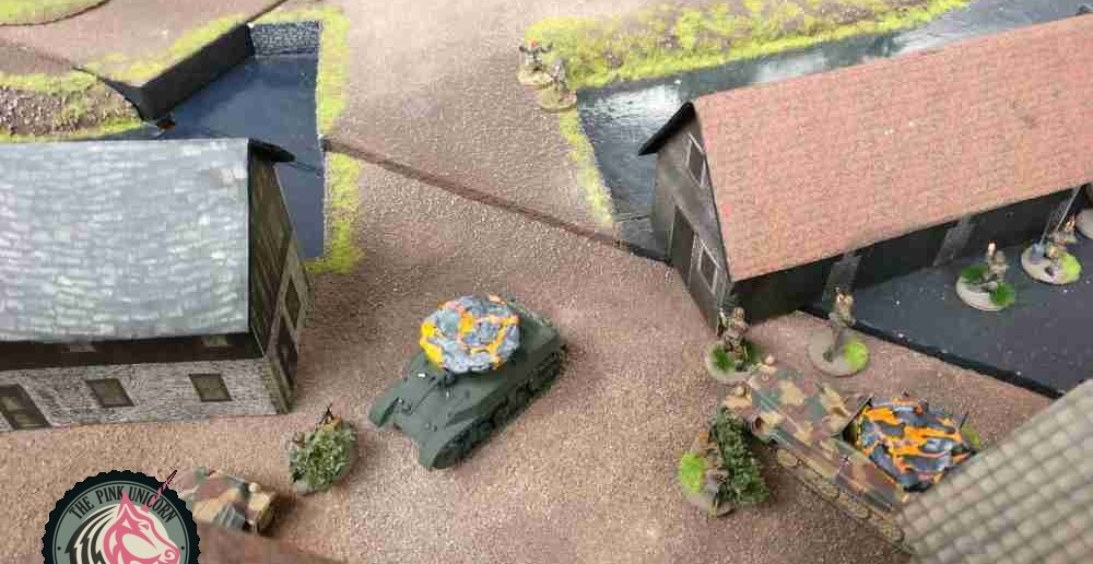 Die Grenadiere nehmen die Briten unter Feuer. ( Behind Omaha. Forum / Spielbericht )