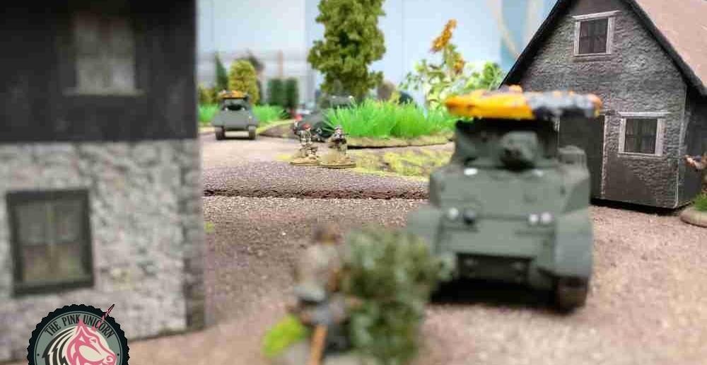 Der MG-Schütze bei der Arbeit. ( Behind Omaha. Forum / Spielbericht )
