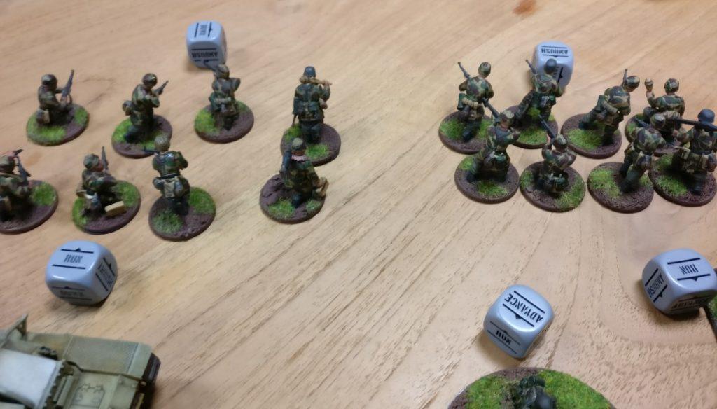 Hier die zwei 8-Mann-Trupps der deutschen Bolt Action Armee