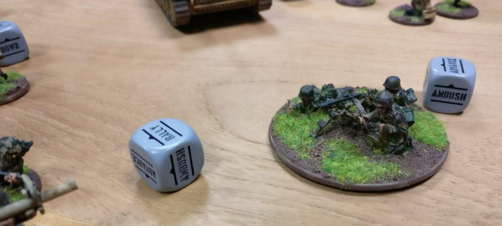 Das MG-Team der deutschen Bolt Action Armee gefällt mir gesonders gut. Von PSC habe ich in 20mm die German Heavy Weapons. Ich glaubem die packe ich am Weekend aus und pinsle...