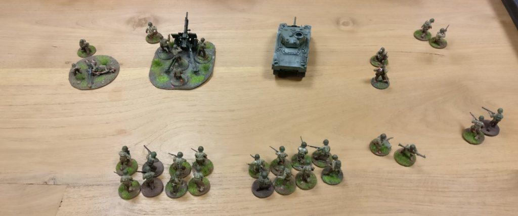 Die US Army ist bei unserer Bolt Action Partie auch gut bei der Sache.