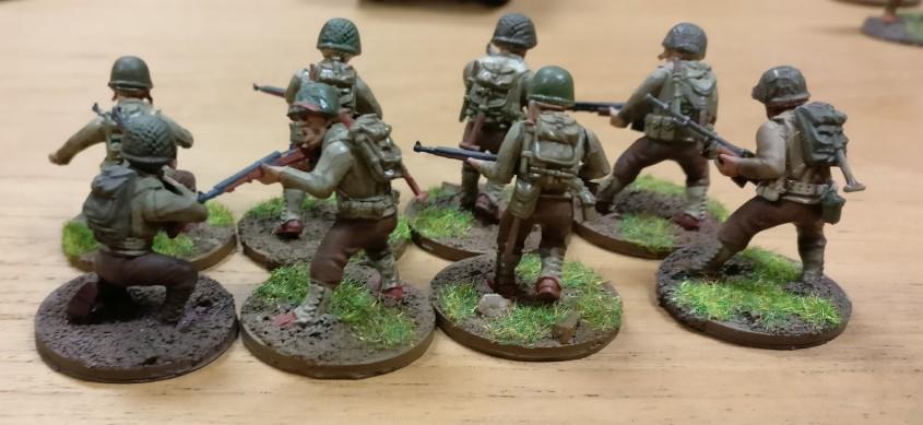 Die US-Trupps haben irgendwie einen Vorteil beim Stürmen. Bei Bolt Action rotzen die immer mit mehr Würfeln raus als die deutschen Truppen.