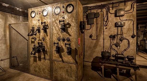 Ein weiterer Maschinenraum im Bunker unter dem Gare de l'Est.