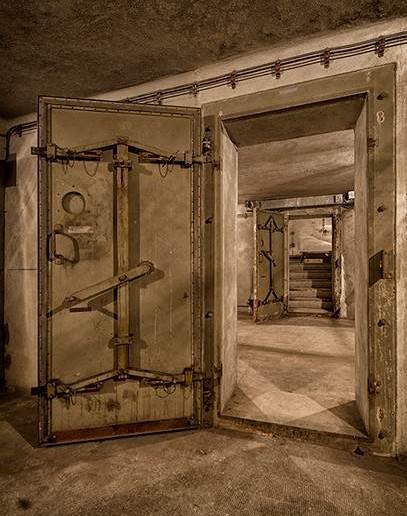 Alle Räume des Bunkers unter dem Gare de l'Est waren durch Panzertüren verschließbar.