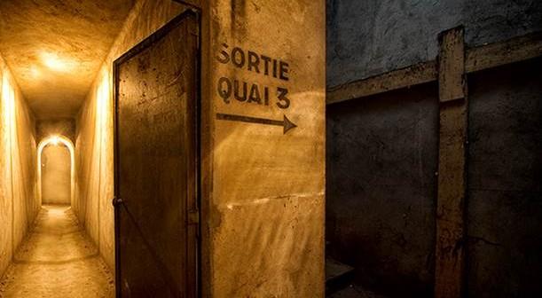 Der Ausgang aus dem Bunker unter dem Gare de l'Est zum Gleis 3...