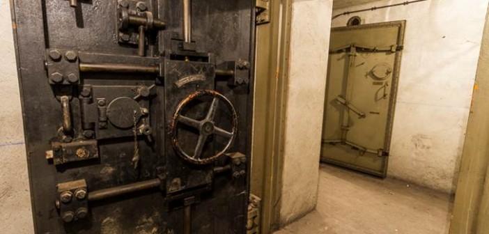 Diese Panzertüren wurden von dem Tresor-Hersteller Bauche gefertigt.