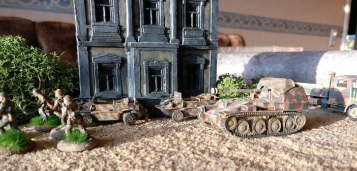 Der Panzerjäger Marder III M (Sd.Kfz. 138) im Unterstützungseinsatz beim Grenadier-Regiment 736 nahe Saint-Aubin-Sur-Mer.