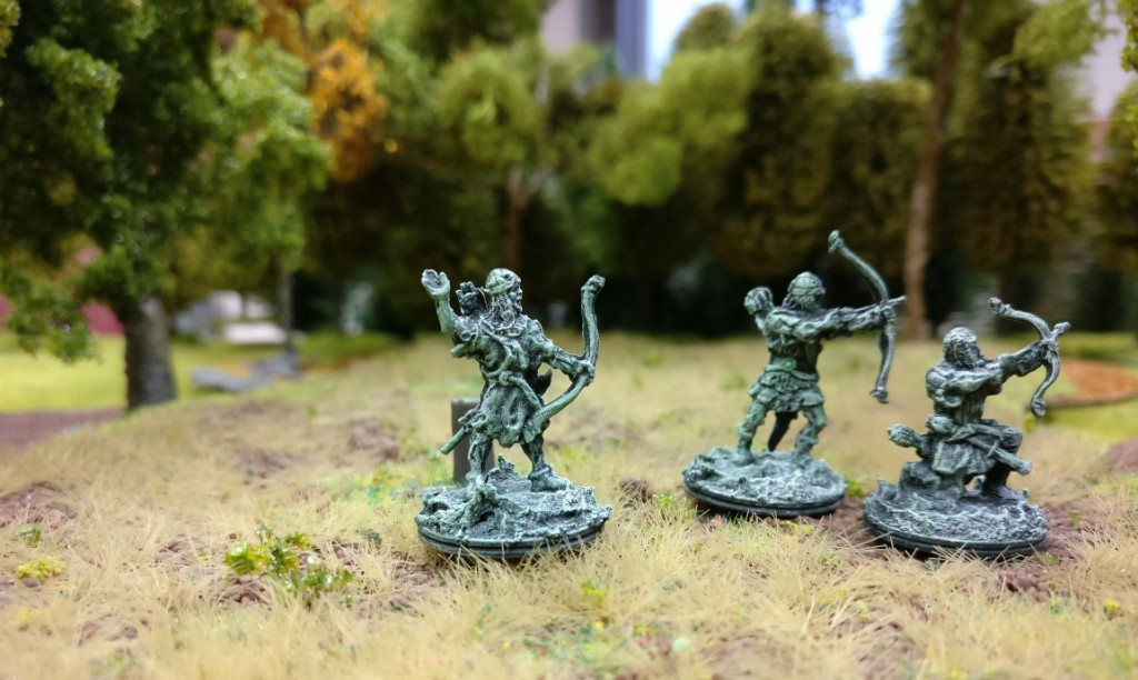 Drei Bogenschützen aus dem Heer der Toten.