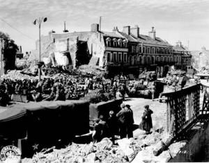 Foto aus der Normandie kurz nach dem D-Day 1944.