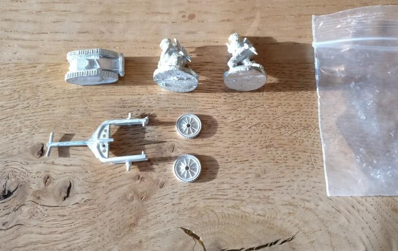 """Sd.Kfz. 303b """"Gerät 672"""" mit Transportanhänger und zwei Bedienern von Shell Hole Scenics Miniatures"""