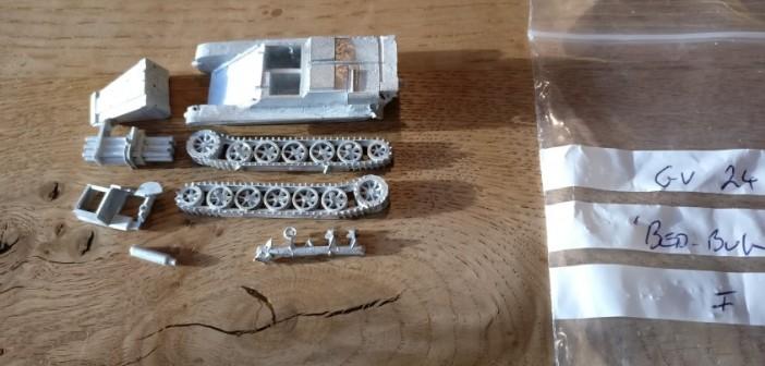 "Von Shell Hole Scenics Miniatures: Sd.Kfz. 301 8,8cm Raketenpanzerbüchse 54/1 auf Borgward IV C ""Wanze"""