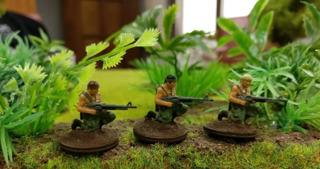 """3 US-Grunts im Projekt """"Vietnam 69"""" von Doncolor.  Die drei Rambos sind nur mal schnell aus Hollywood zum Shooting rübergekommen."""
