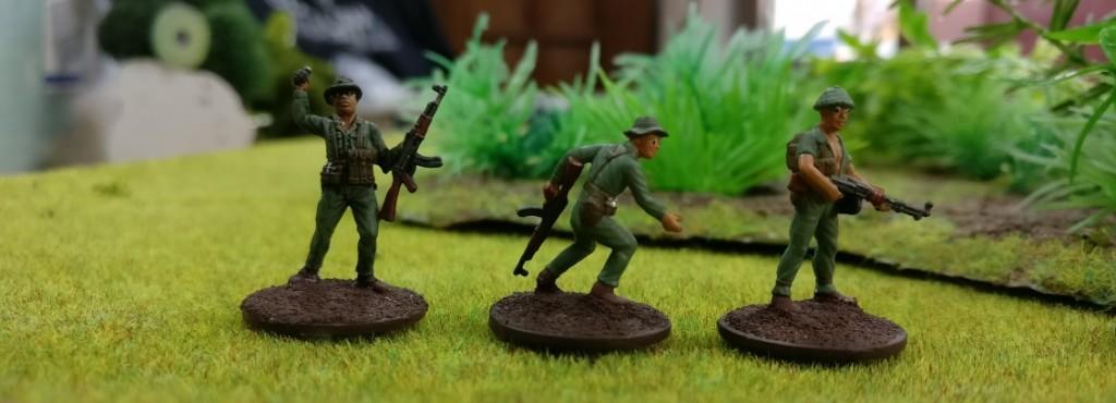 "3 Schützen der Armee Nordvietnams NVA in Doncolors Projekt ""Vietnam 69""."