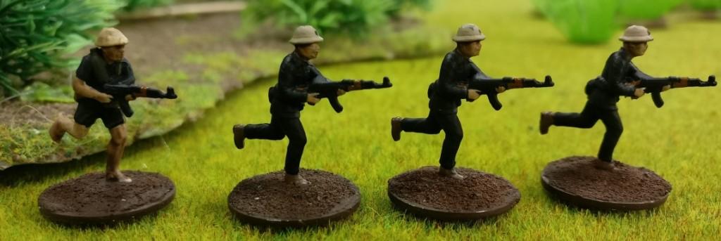 "4 Schützen des Viet Cong in Doncolors Projekt ""Vietnam 69""."