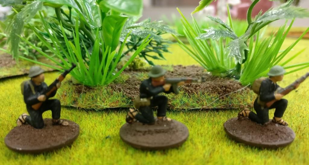 "3 Schützen des Viet Cong in Doncolors Projekt ""Vietnam 69""."