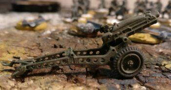 """Montage und Bemalung der """"75mm Pack Howitzer M1"""" aus dem """"Waterloo 1815 Set 036 British Paratroopers with Pack Howitzer"""""""