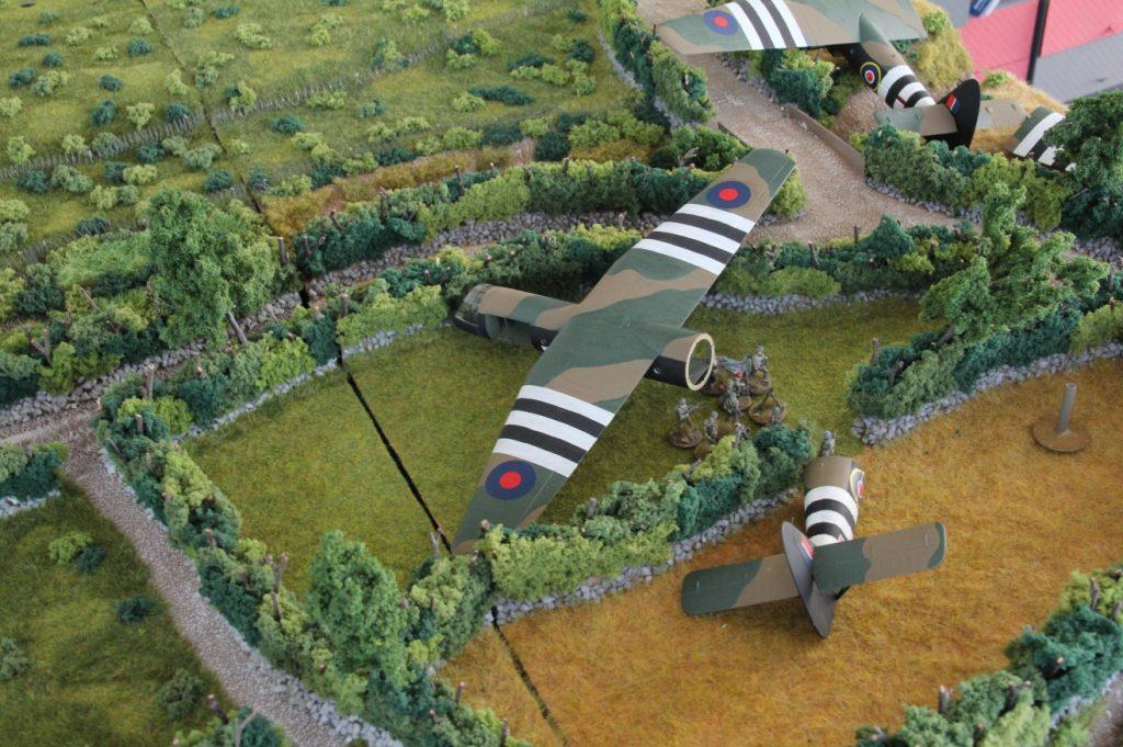 """Foto vom Spieltisch """"Luftlandung, Eroberung Château Tailleville, Juno-Beach 1944"""""""