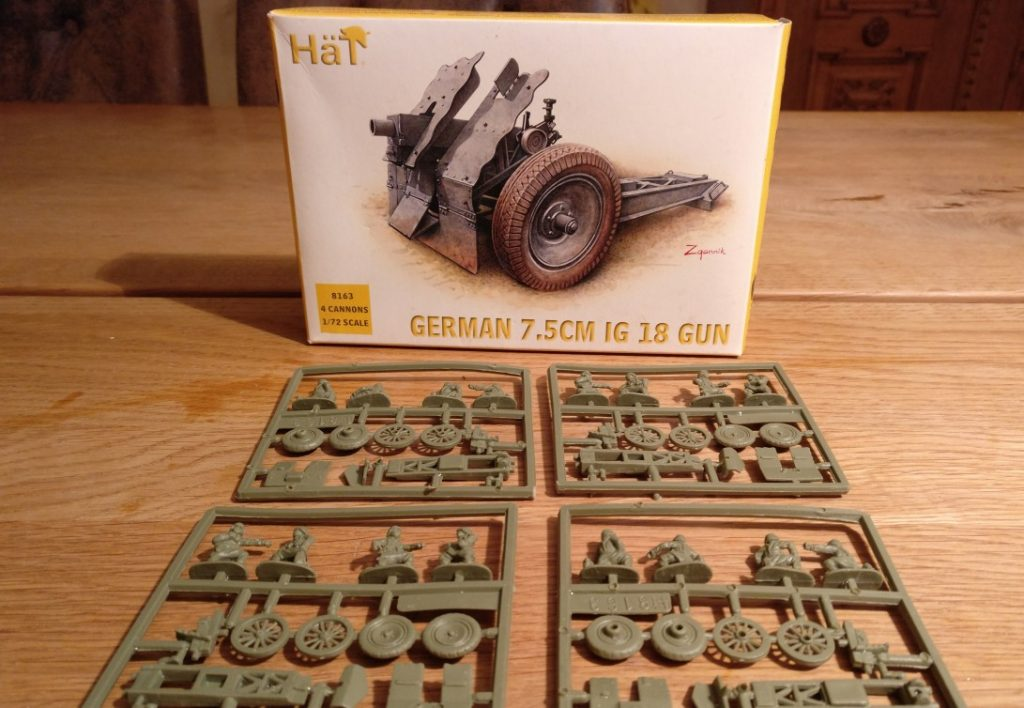 HaT Set 8163 German 7,5cm IG 18 Gun