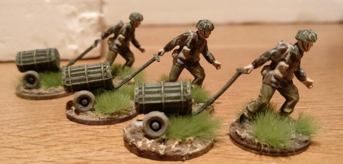 Die Herren mit ihren M9A2- bzw. M18-Trolleys.