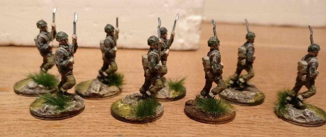 Die zusätzlichen Fallies für den Sturmi (Revell Set 02509 British Paratroopers)
