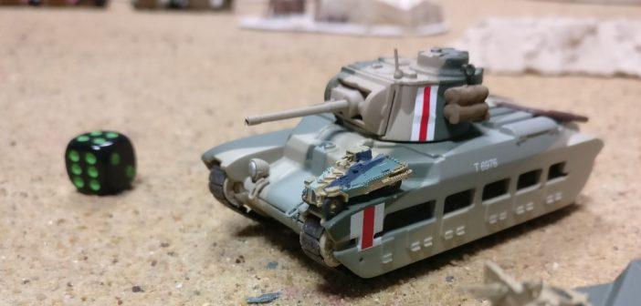 Der Matilda II lässt den kleinen Briten auf seinem Knie tanzen.