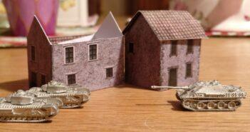 Für usszeschnigge! Doncolor fertigt Bastelbögen für Häuser im Maßstab 1:285.