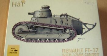 HaT 8113 Renault FT-17 with 37mm Cannon und HaT 8114 Renault FT-17-with Hotchkiss Machine-Gun: ein detaillierter Review von FrankM