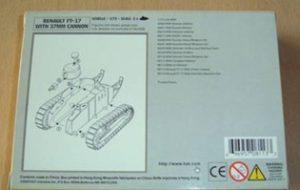 Die Bauanleitung der Version mit der 37mm-Puteaux-Kanone (Haet 8113)