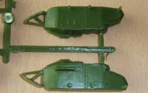 Die Nieten aúf der Panzerwanne des FT-17 von HaT.