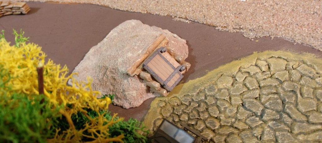 ...befindet sich der Eingang zum unterirdischen Tunnelsystem der Ebene 2!