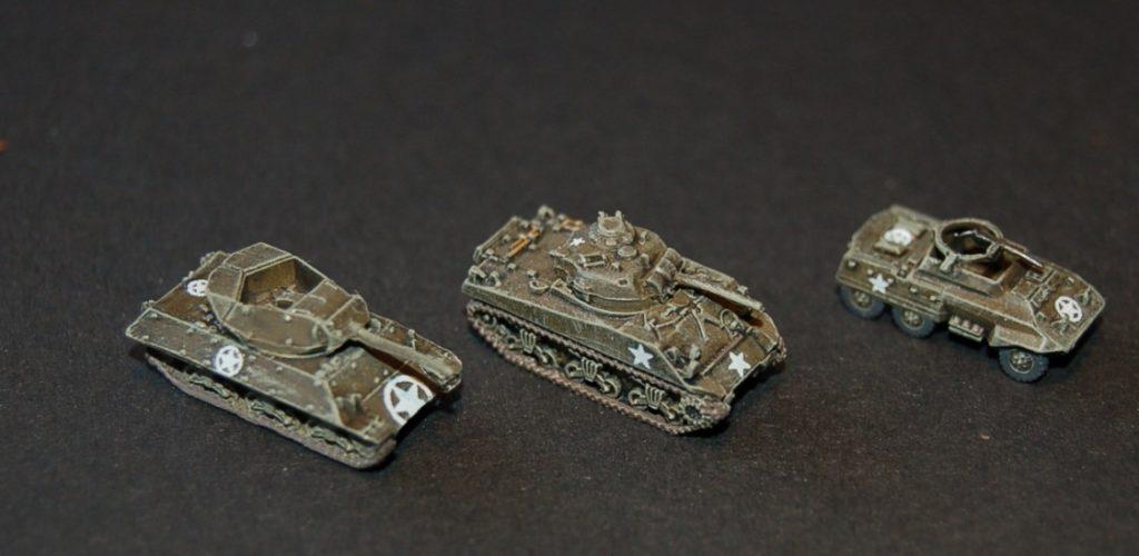 Und seine US-Truppe hat auch neue Rekruten. Ein M4 Schörmi und ein M20 Armored Utility Car.